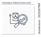 fuel predictive analytics line... | Shutterstock .eps vector #2023287989