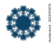 islamic traditional rosette for ... | Shutterstock .eps vector #2023293476