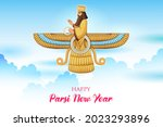 illustration of zoroastrianism...   Shutterstock .eps vector #2023293896