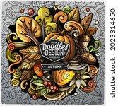 cartoon vector doodles autumn... | Shutterstock .eps vector #2023314650
