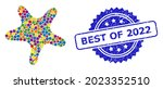 colorful collage bent star  and ...   Shutterstock .eps vector #2023352510