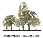 composite group of trees with... | Shutterstock .eps vector #2023357406