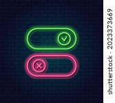 neon toggle switch on and off....