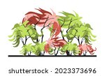 compositional group of trees... | Shutterstock .eps vector #2023373696