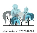 compositional group of trees... | Shutterstock .eps vector #2023398389