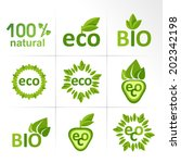 eco and bio labels | Shutterstock .eps vector #202342198