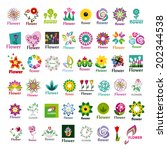 large collection of vector... | Shutterstock .eps vector #202344538