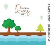world rivers day  vector... | Shutterstock .eps vector #2023482986