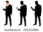 businessman holding a water... | Shutterstock .eps vector #202352884
