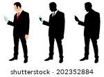 businessman holding a water... | Shutterstock .eps vector #202352884