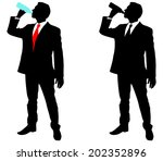 businessman drinking water ... | Shutterstock .eps vector #202352896