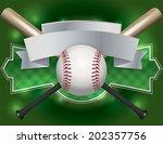 an illustration of a baseball... | Shutterstock .eps vector #202357756