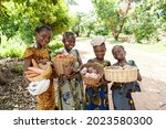 in this image  a group of...