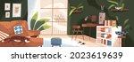 modern living room with... | Shutterstock .eps vector #2023619639