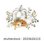 Watercolor Floral Pumpkins...
