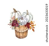 Fall Harvest Basket With Pastel ...