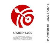 vector illustration of archery...   Shutterstock .eps vector #2023672646