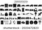 public transport related vector ...