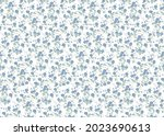 liberty style. ditsy print....   Shutterstock .eps vector #2023690613