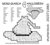 zigzag word search crossword...   Shutterstock .eps vector #2023711883