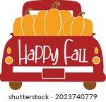 Fall Truck With Pumpkin Svg...