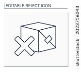 rejected product line icon....   Shutterstock .eps vector #2023756043