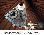 an astronomical telescope... | Shutterstock . vector #202376998
