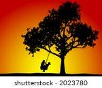 kids swinging on a tire swing | Shutterstock .eps vector #2023780