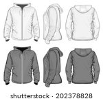 vector. men's hooded sweat... | Shutterstock .eps vector #202378828