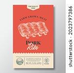 farm grown meat abstract vector ...   Shutterstock .eps vector #2023797386