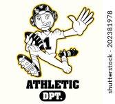 american footbal mascot | Shutterstock .eps vector #202381978