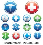 set of medical symbols. vector...