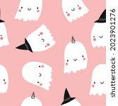 happy halloween cute vector... | Shutterstock .eps vector #2023901276