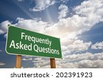 frequently asked questions... | Shutterstock . vector #202391923