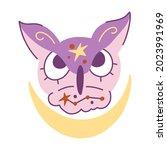 Owl Purple Hand Drawn Vector...