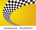 checkered stripes 3d | Shutterstock .eps vector #202409323