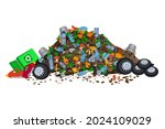 pile of garbage isolated on... | Shutterstock .eps vector #2024109029