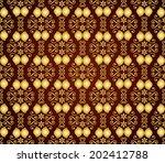 gold retro flower and spiral... | Shutterstock .eps vector #202412788