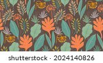 artistic seamless pattern with... | Shutterstock .eps vector #2024140826