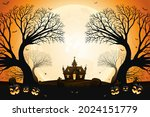 halloween smiling pumpkin faces ... | Shutterstock .eps vector #2024151779
