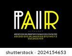 double style font  alphabet... | Shutterstock .eps vector #2024154653