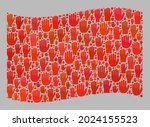 mosaic waving red flag created... | Shutterstock .eps vector #2024155523