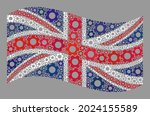 mosaic waving united kingdom... | Shutterstock .eps vector #2024155589