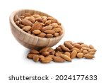 Bowl With Healthy Almonds On...