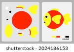 fish pattern for kids crafts or ...   Shutterstock .eps vector #2024186153