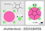 turtle pattern for kids crafts...   Shutterstock .eps vector #2024186936