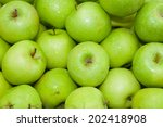 Top View Of Green Apple On...