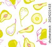 hand drawn vector pattern of...   Shutterstock .eps vector #2024221433