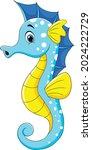 cute seahorse cartoon aquatic...   Shutterstock .eps vector #2024222729