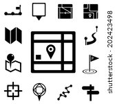 map icons and location icons... | Shutterstock .eps vector #202423498